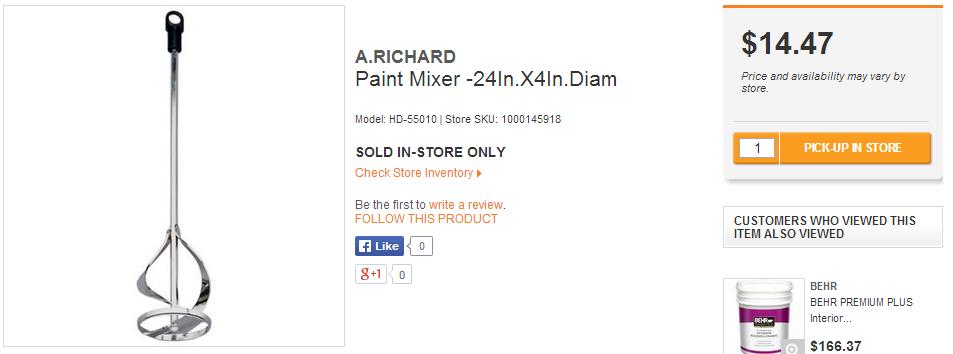 Home Depot Other Mixer